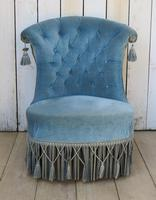 Antique French Napoleon III Armchair & Stool (2 of 10)