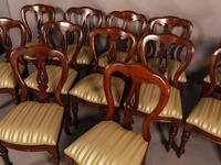 Set of 12 Victorian Spear Point Balloon Back Dining Chairs (4 of 11)