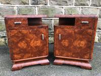 Pair of Art Deco Burr Walnut  Bedside Cabinets (4 of 10)