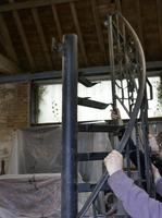Unused Space Saver Iron Spiral Staircase with Hand Rails (9 of 12)