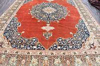 Antique Tabriz roomsize carpet 397x302cm (5 of 8)