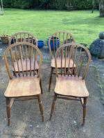 Set of Four Early 20thc Ash & Beach Kitchen Chairs (2 of 6)