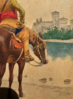 Exceptional Quality 19th Century Miniature Watercolour Painting of Horseman - Cowboy (8 of 11)