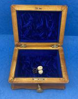 William IV Birch Penwork Jewellery Box (10 of 16)