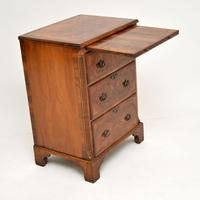 Antique Burr Walnut Bachelors Chest of Drawers (3 of 9)