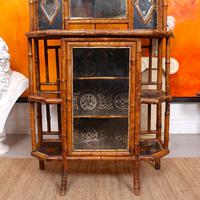 Bamboo Chiffonier Aesthetic Anglo Japanese 19th Century Lacquer (14 of 17)