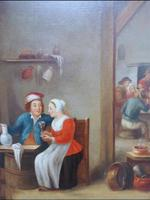 David Teniers The Younger 'After' Dutch Genre Tavern Interior Scene 17th Century Oil Portrait Paintings (7 of 13)