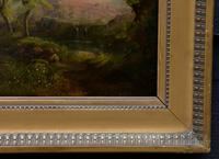 Good Quality 19th Century Oil on Board, Wooded Landscape (6 of 6)