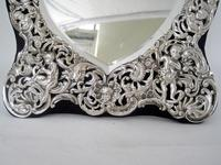 William Comyns Victorian Heart Shaped Silver Dressing Table Mirror (3 of 8)