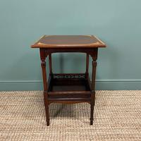 Stunning Victorian Inlaid Antique Mahogany Occasional Table (5 of 7)