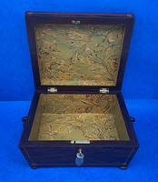 William IV Rosewood Box with Boxwood Inlay (6 of 10)