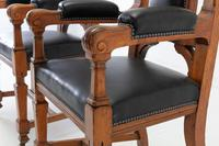 Late 19th Century Pair of Gothic Oak Armchairs (8 of 10)