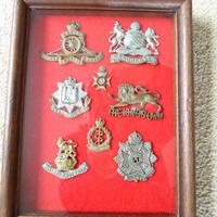Framed Military Badges
