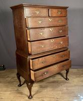 Handsome elegant 18th century oak country-house chest on chest (4 of 12)