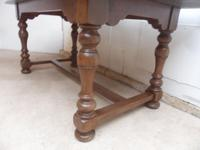 Superb 1920s Golden Oak 2 Piece 6-8 Seater Refectory Dining / Kitchen Table (7 of 8)