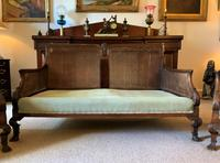 19th Century Antique Mahogany Upholstered 3 Piece Bergere Sofa Suite Armchairs Settee (6 of 15)