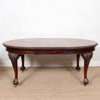 Oak Dining Table & 6 Chairs Telescopic 19th Century (13 of 19)