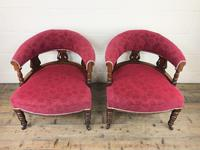 Pair of Victorian Mahogany Upholstered Tub Chairs (4 of 15)