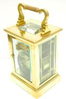 Good Antique French 8-day Carriage Clock Bevelled Case Large Dial & Carry Handle (11 of 13)