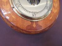 Edwardian Antique Fruitwood Inlaid Barometer (7 of 7)