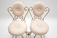 Pair of Vintage French Brass Swivel Side Chairs (5 of 10)