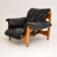 "Vintage ""Sheriff"" Leather Armchair by Sergio Rodrigues for ISA (3 of 12)"