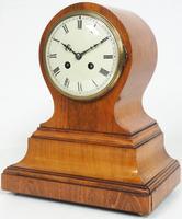 Impressive Solid Walnut Drum Head Striking Mantel Clock PHS Mantle Clock (4 of 12)