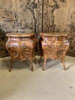 Stunning Pair of 19th Century Italian Inlaid Cupboards