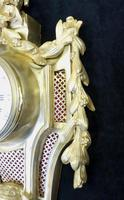 French Louis XVI Style Bronze Gilt Cartel Wall Clock (6 of 7)