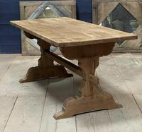 Smaller French Farmhouse Bleached Oak Dining Table (11 of 17)