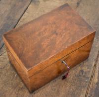 Fine London Made Burr Walnut Tea Caddy (2 of 6)
