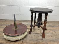 Antique Victorian Walnut Piano Stool with Adjustable Height (5 of 11)