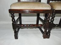 Pair of Jacobean High Back Oak Chairs (4 of 8)