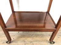 Antique Mahogany Two Tier Drinks Trolley or Tea Trolley (9 of 11)