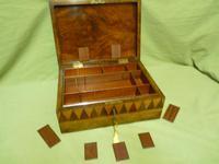 Large Tunbridge Ware Style Jewellery Box - Original Tray c.1870 (9 of 16)