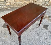 Antique Victorian Mahogany Two Drawer Side Table (19 of 20)