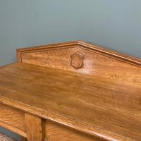 Quality Victorian Golden Oak Antique Hall Table (2 of 7)
