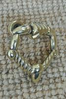 Fine Early 19th Century Brass Door Knocker Acorn in Hand Regency Period (2 of 9)