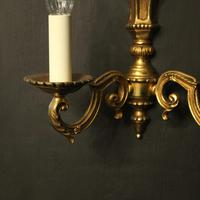 French Pair of Gilded Antique Wall Lights (7 of 10)