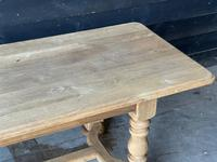 French Bleached Oak Refectory Farmhouse Dining Table (5 of 26)