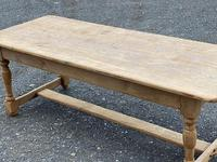 Large French Bleached Oak Farmhouse Table with Extensions (6 of 26)