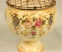 Antique Crown Devon Fieldings Jardiniere Rose Bowl (3 of 9)