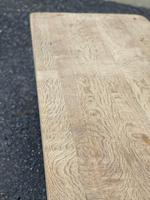 Bleached Oak Trestle End French Farmhouse Dining Table (11 of 22)