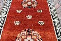 Antique Tibetan small carpet 229x121cm (4 of 6)
