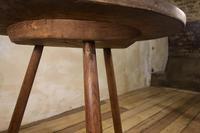 George III Burr Elm & Oak Primitive Cricket Table (8 of 10)