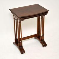 Antique Edwardian Mahogany Nest of  Tables (6 of 11)