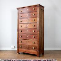 "Late 19th Century French Cherrywood ""Semainier"" Tallboy"