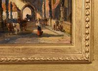 """Oil painting by William Dommersen """"The Charles Bridge, Prague"""" (4 of 4)"""