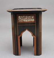 19th Century ebony and inlaid occasional table (4 of 9)