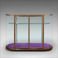 Large Antique Glazed Display Cabinet, English, Bronze, Shop, Showcase, Edwardian (6 of 12)